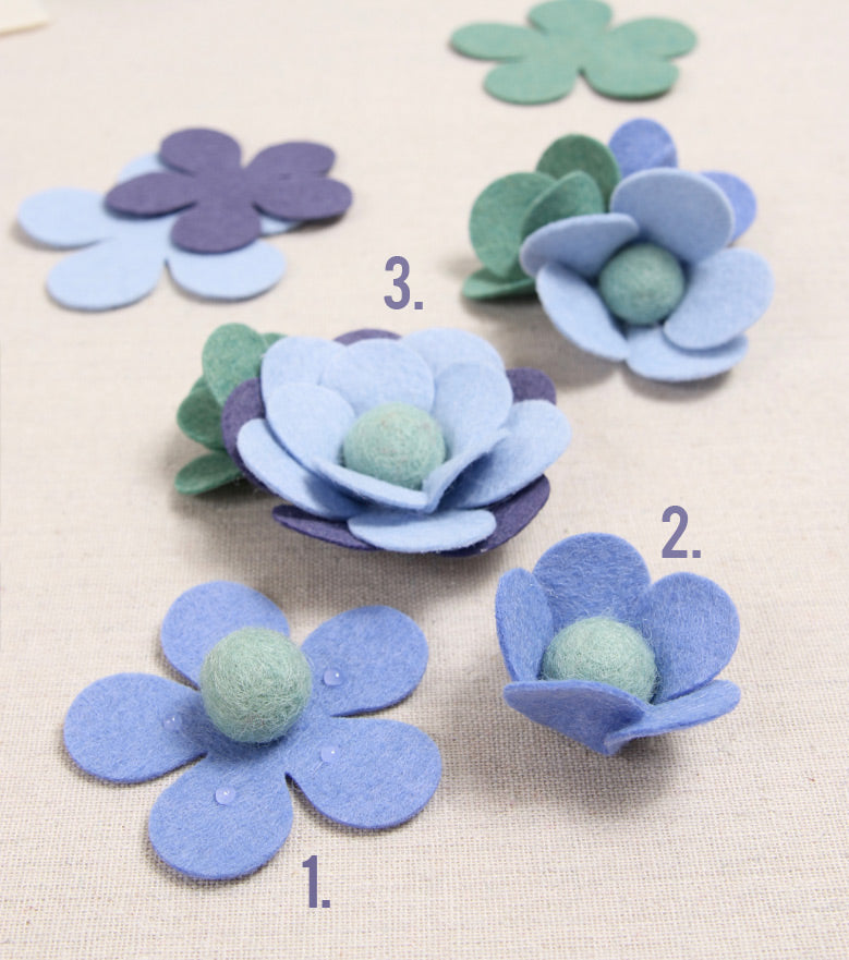 Instructions on Felt Flowers