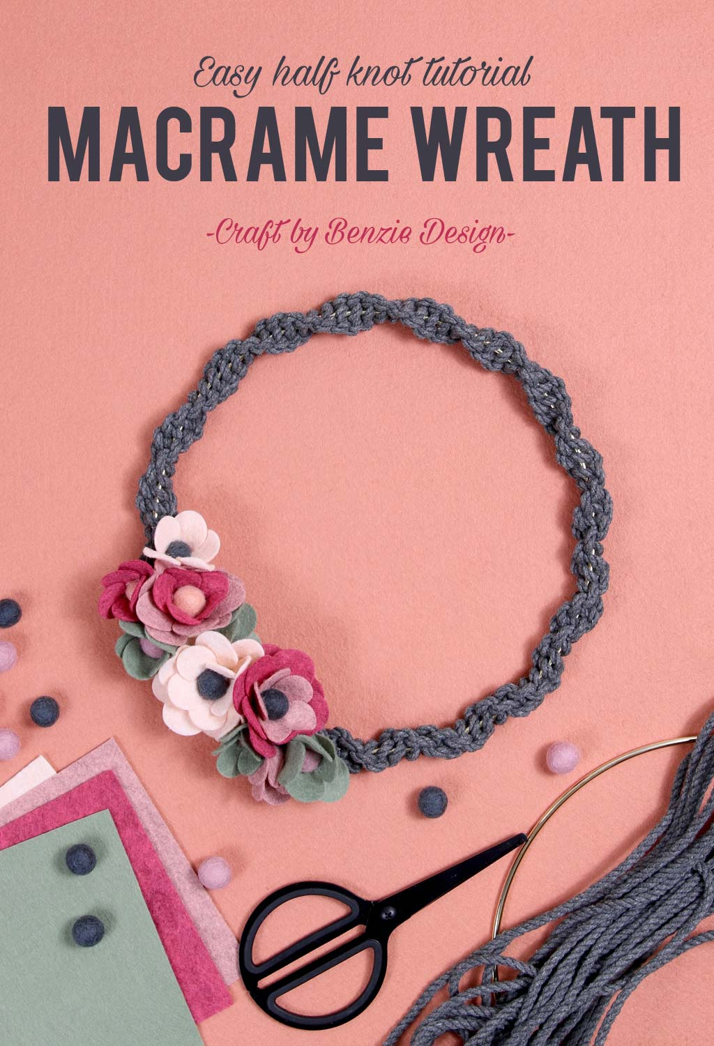How to make a macrame wreath