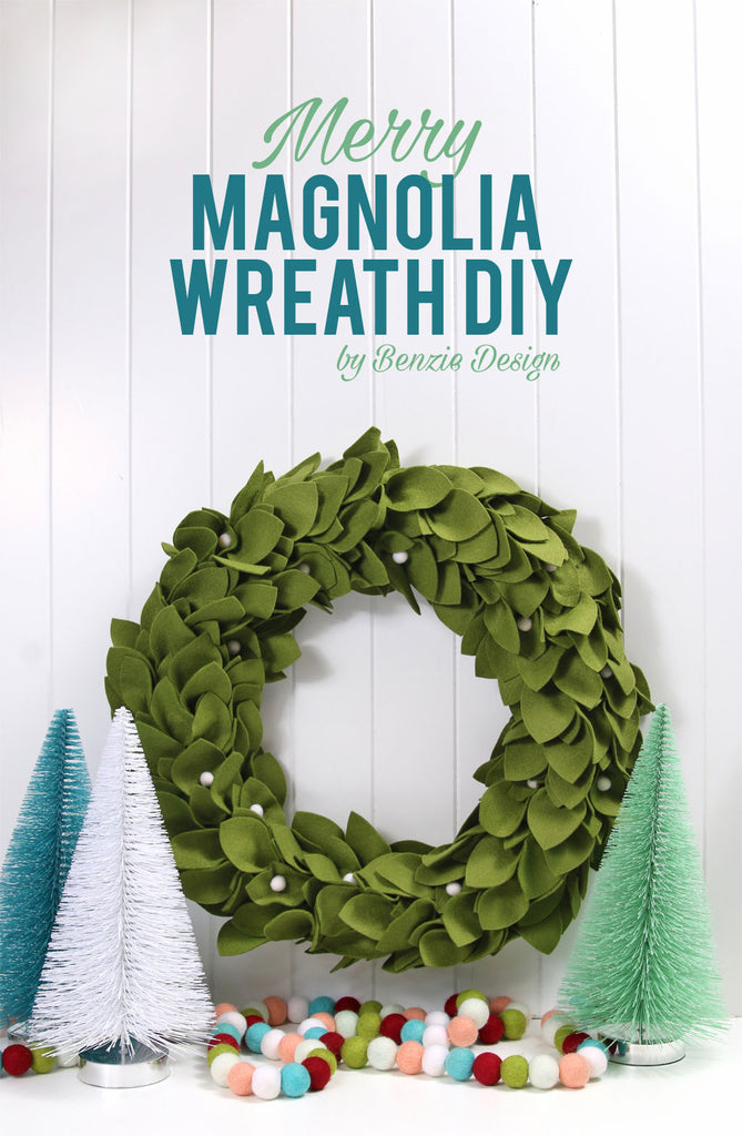 Felt Magnolia Wreath