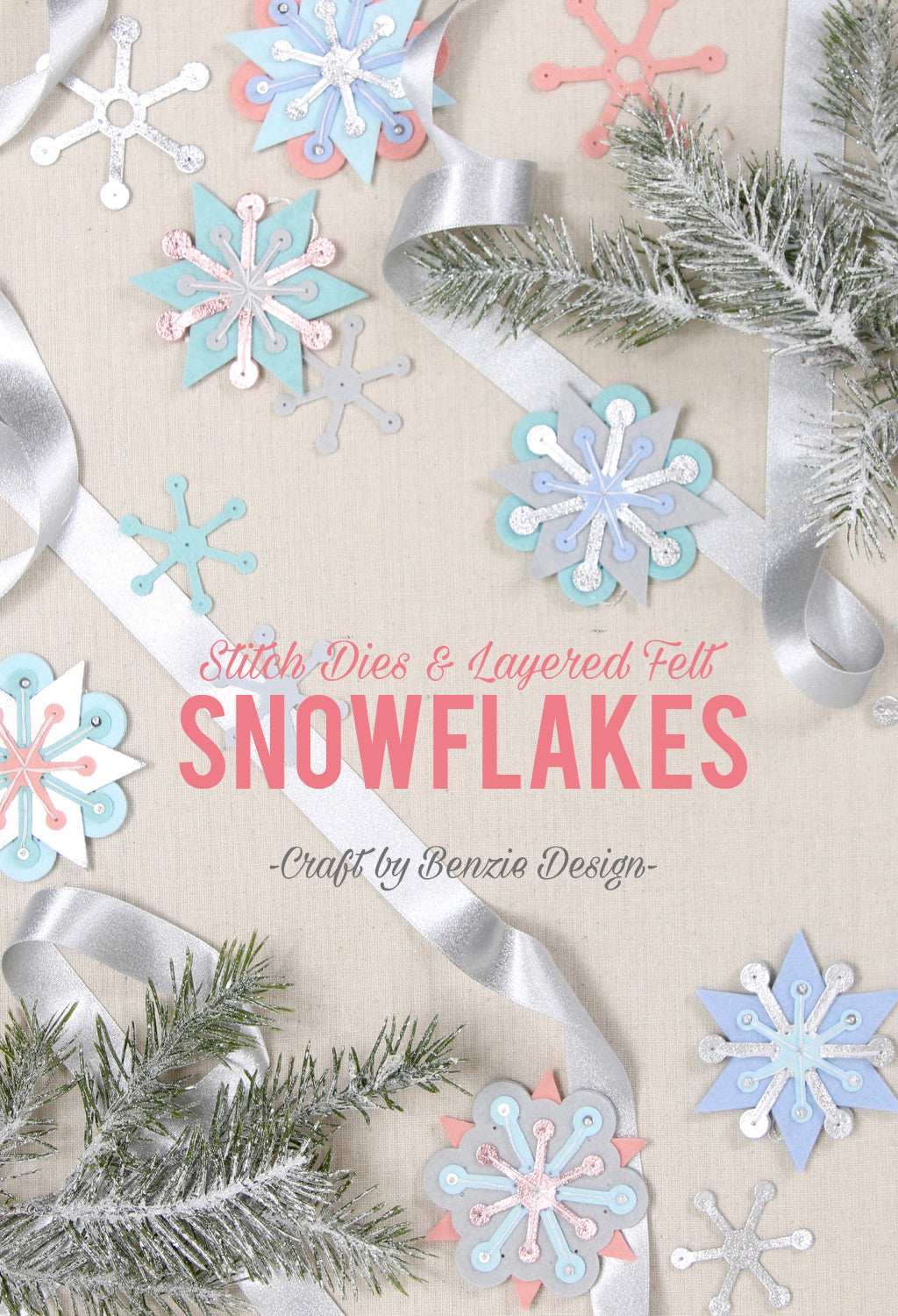 felt snowflake ornament diy