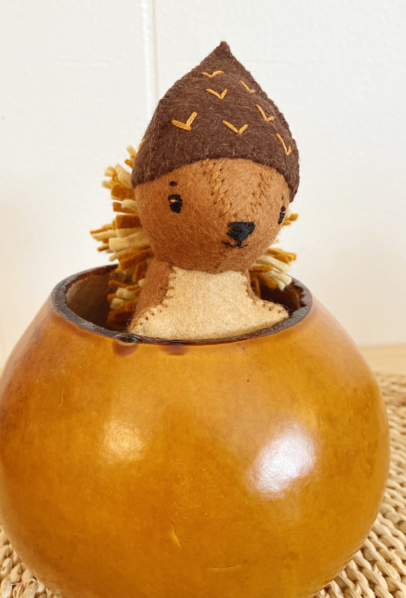 Completed Stuffed Squirrel In an Acorn Hat