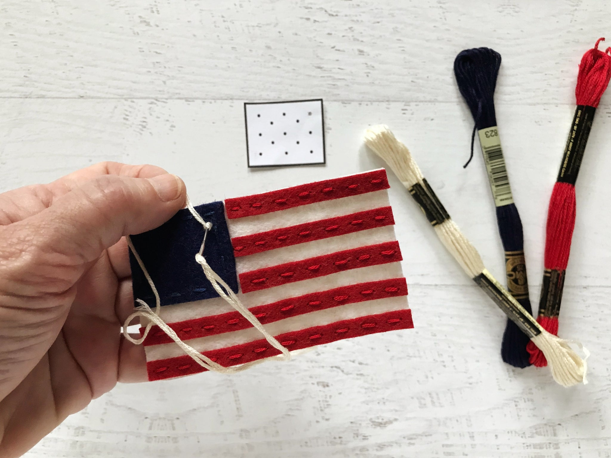 american flag embroidery