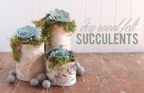 DIY Felt Succulents