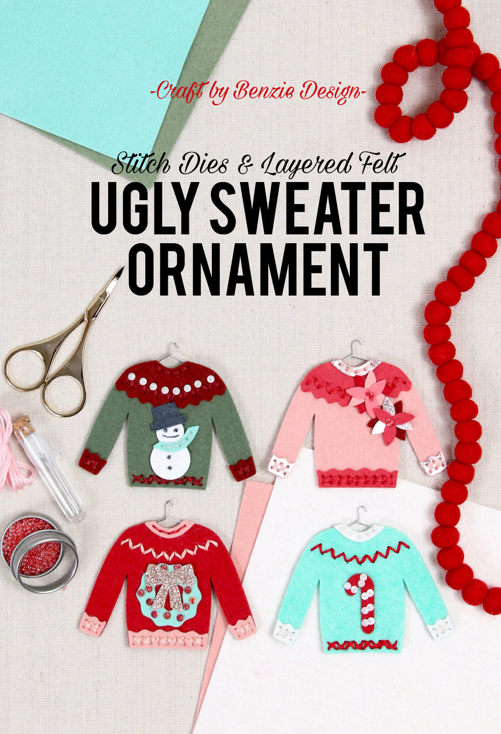 ugly sweater ornament diy