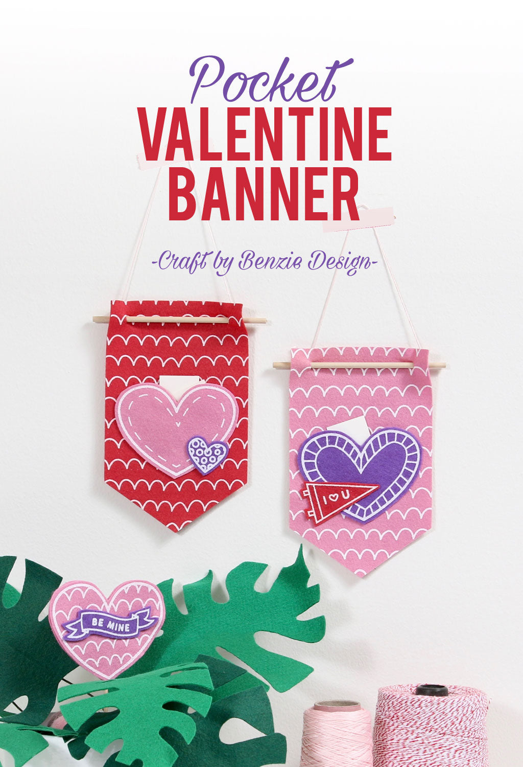 Valentine banner for notes