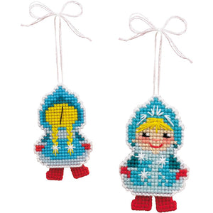 Snow Maiden Counted Cross Stitch Kit