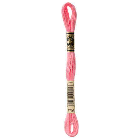 DMC embroidery floss, pink embroidery floss, DMC 3708