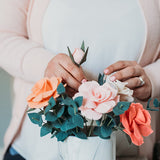 Rose + Eucalyptus Bouquet, Advanced PDF Pattern