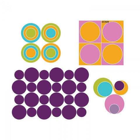 "Large Die Cut, Circles, 2"", 3"" & 4"""