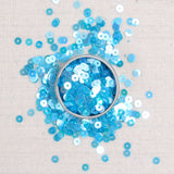 Iridescent Sequins or Beads: Aquamarine