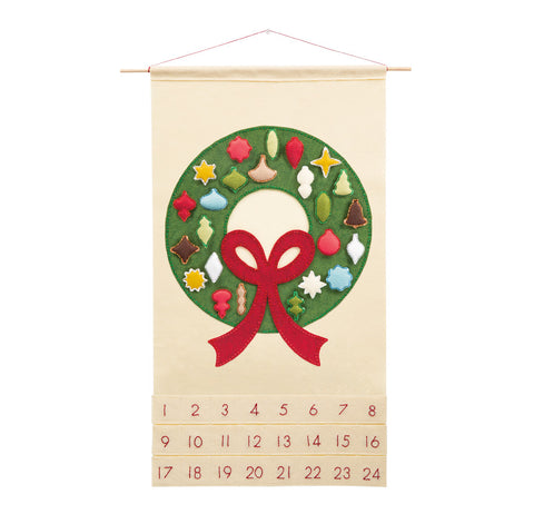Carol of the Bells Advent Calendar with Whimsical Vintage Ornaments