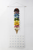sugar house shop, countdown calendar, ice cream felt craft