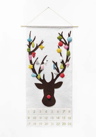 Dashing Through the Snow Advent Caledar with Whimsical Vintage Ornaments