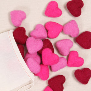 Hearts, Mixed Pink