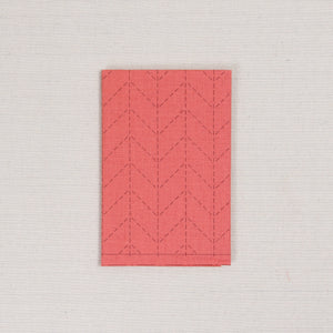 Sashiko Fabric in Herringbone Orange