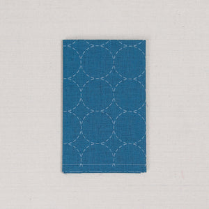 Sashiko Fabric, Circle Pattern in Blue