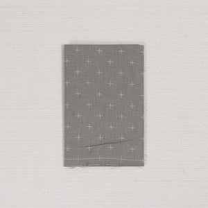 Sashiko Fabric, Kasuri Crosses in Greige