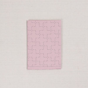 Sashiko Fabric in Cross in Blush Pink