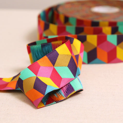 Tumbling Blocks Woven Ribbon