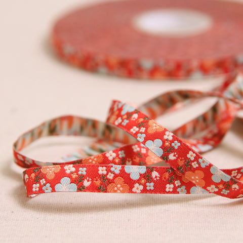 Spring Floral Woven Ribbon