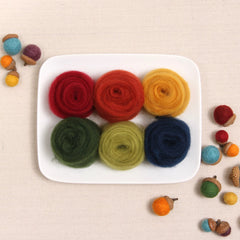 Autumn Colors Wool Roving