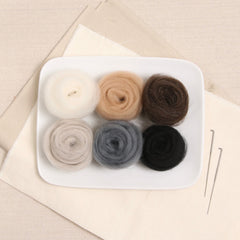 Neutral Colors Wool Roving