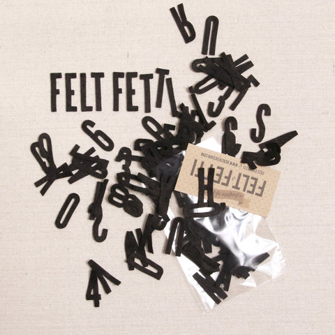 Felt-fetti Small Alphabet & Numbers, die cut shapes