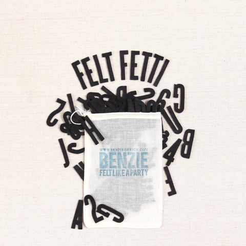 Felt-fetti Alphabet & Numbers, die cut shapes