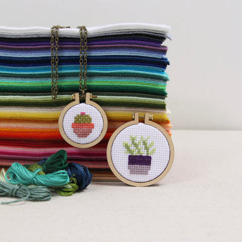 Cross Stitch Necklace Workshop - January 13