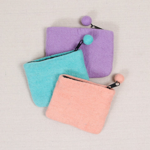 Felted Zippered Pouches
