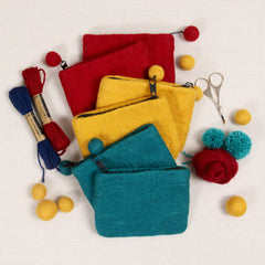 Felted Zipper Pouches