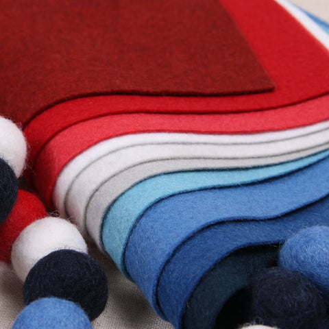 Red, White & Blue Felt Palette