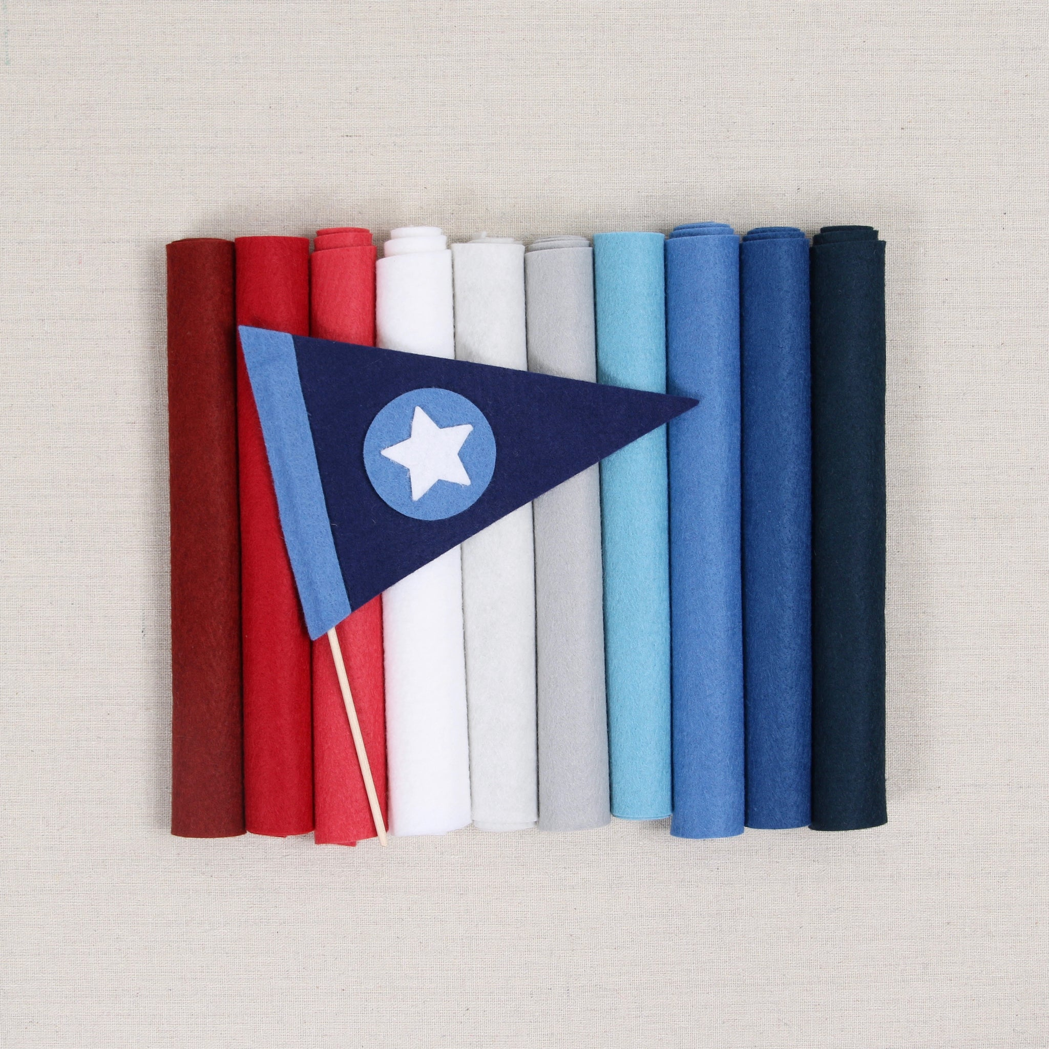 Red White Blue Felt Palette Benzie Design