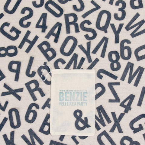 Felt-fetti Classic Alphabet & Numbers, die cut shapes