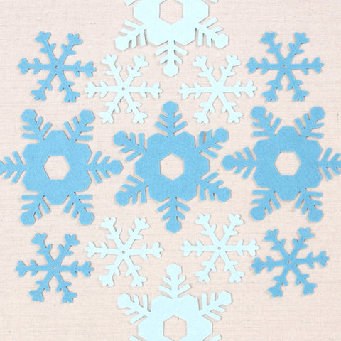 Big Felt-fetti Snowflakes, die cut shapes