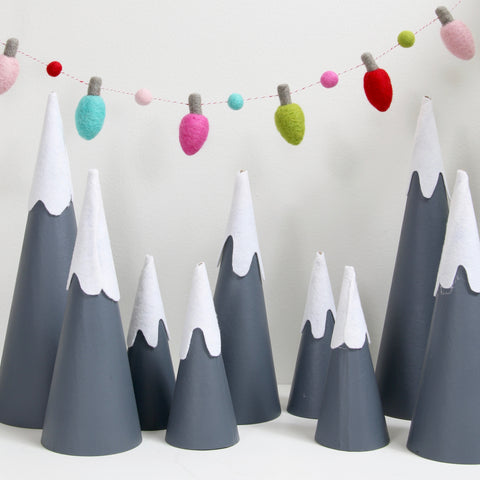 Silver Tip Holiday Lights, Felt Shapes
