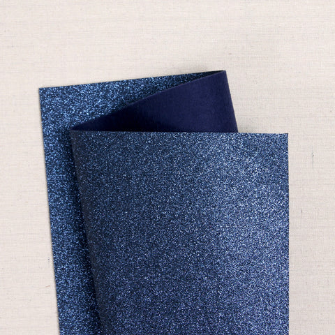 Oxford Blue Glitter Felt