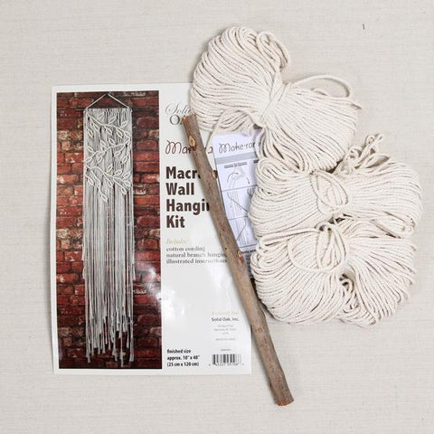 Macramé Wall Hanging Kit: Leaves + Branches