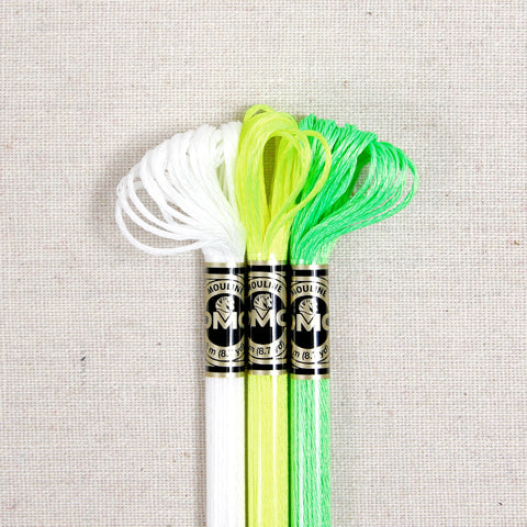 DMC Embroidery Floss, Fluorescent and Glow in the Dark