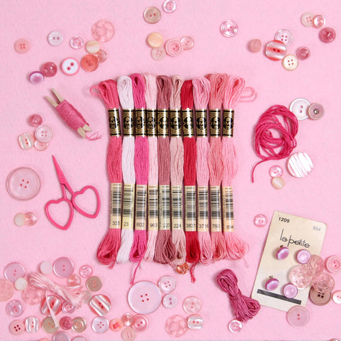 DMC Embroidery Floss, Pink Palette