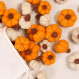 Pumpkin Felted Shapes, Almond