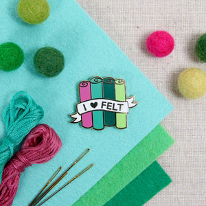 Lapel Pin: I Heart Felt