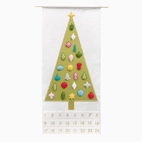 Joyful & Triumphant Advent Calendar with Whimsical Vintage Ornaments
