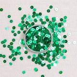 Kelly green sequins, Kelly green, metallic green sequins, green sequins