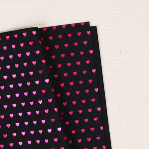 Metallic Magenta Heart Felt