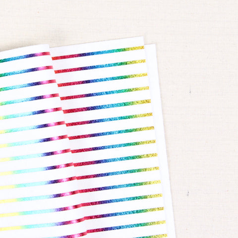 Metallic Rainbow Stripes Felt