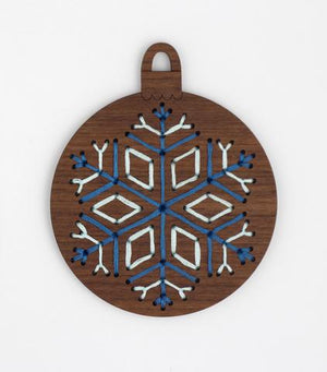 Snowflake - DIY Stitched Ornament Kit
