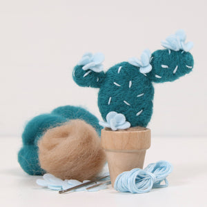Needle Felting Kit, Prickly Pear