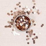Metallic Sequins or Beads: Rose Gold