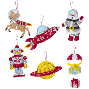 Rocket Ship Santa Ornament Kit